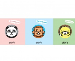 SKIN79 Animal BB Angry Cat, Dry Monkey, Dark Panda 3x1ml - krem BB, próbki