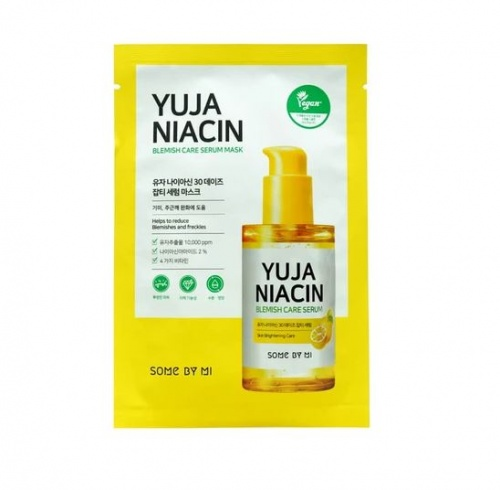 SOME BY MI Yuja Niacin 30 Days Blemish Care Mask 25g - maska rozjaśniająca