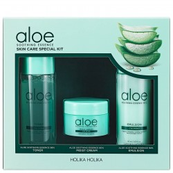 Holika Holika Aloe Soothing Essence Skin Care Special Kit - zestaw tonik, krem, emulsja