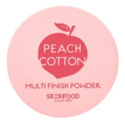 SKINFOOD Peach Cotton Multi Finish Powder 15g - transparentny puder sypki z ekstraktem z brzoskwini